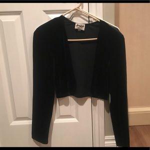 Sweaters - Black velvet shrug